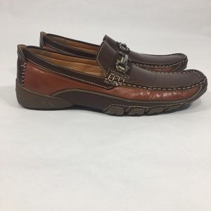 Other - AC Casuals Men's 9.5M Slip On Brown Rust Loafers